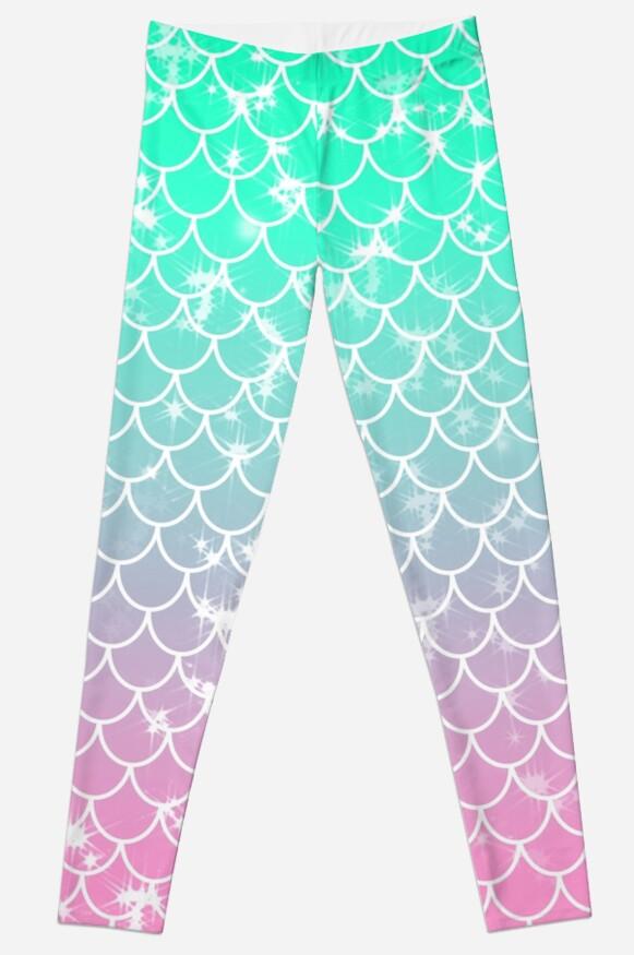 Pastel Mermaid Scallop Pattern by julieerindesign