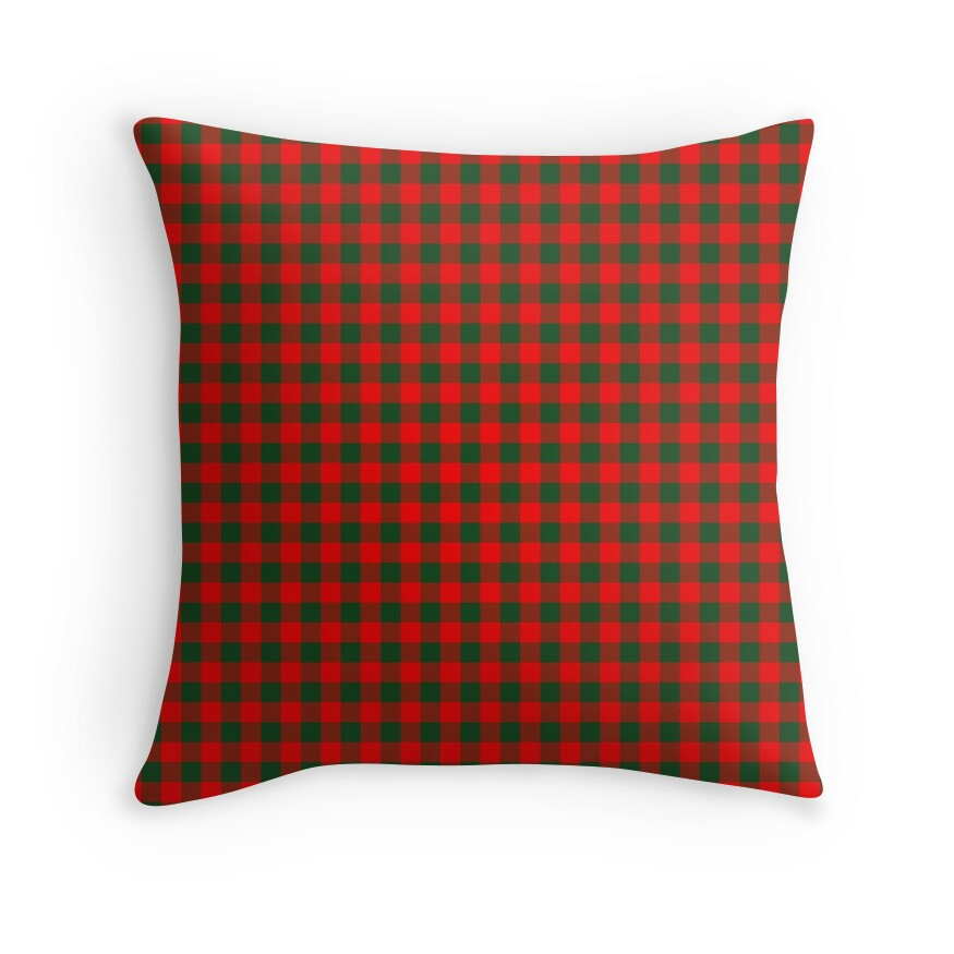 Medium Holly Red and Balsam Green Christmas Country Cabin Buffalo Check