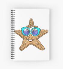 Cartoon Starfish Spiralblock