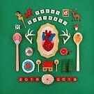 Holiday Anatomical Heart by Hiné Mizushima