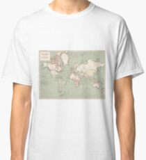 Vintage Map of The World (1915) Classic T-Shirt