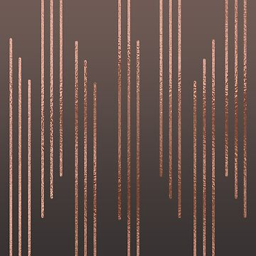 Abstract Rose Gold Stripe Geometric Background Pattern by TeeVision