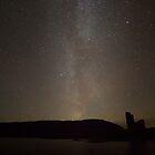 Milky Way over Ardvreck Castle by derekbeattie