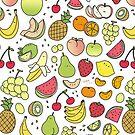 «Doodle de frutas jugosas» de KiraKiraDoodles
