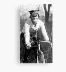 National Womens Party bike messenger (1922) Metal Print