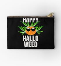 Weed Happy Hallo Weed Halloween Pot Smoking Studio Pouch