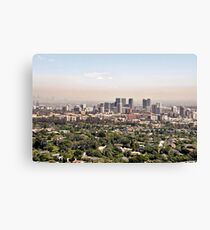 Los Angeles, California - Glitter and Trouble Canvas Print