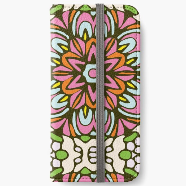 Pink Princess Floral Rock Garden iPhone Wallet