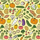 «Veggie Friends Doodle» de KiraKiraDoodles