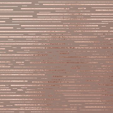 Rose Gold Metallic Stripes by TeeVision