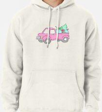 Pink Christmas Truck Pullover Hoodie