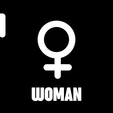 Man Woman Geek Funny Symbols (White) by Chocodole