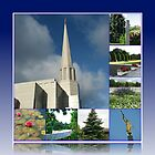 Holiness to the Lord - The Preston Temple in Summer by Kathryn Jones