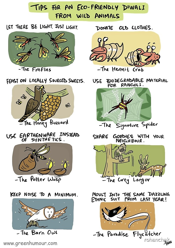 Eco-friendly Diwali Tips from Wild Animals by rohanchak