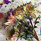 Painted Daisy Flowers Abstract by BeachBumFamily