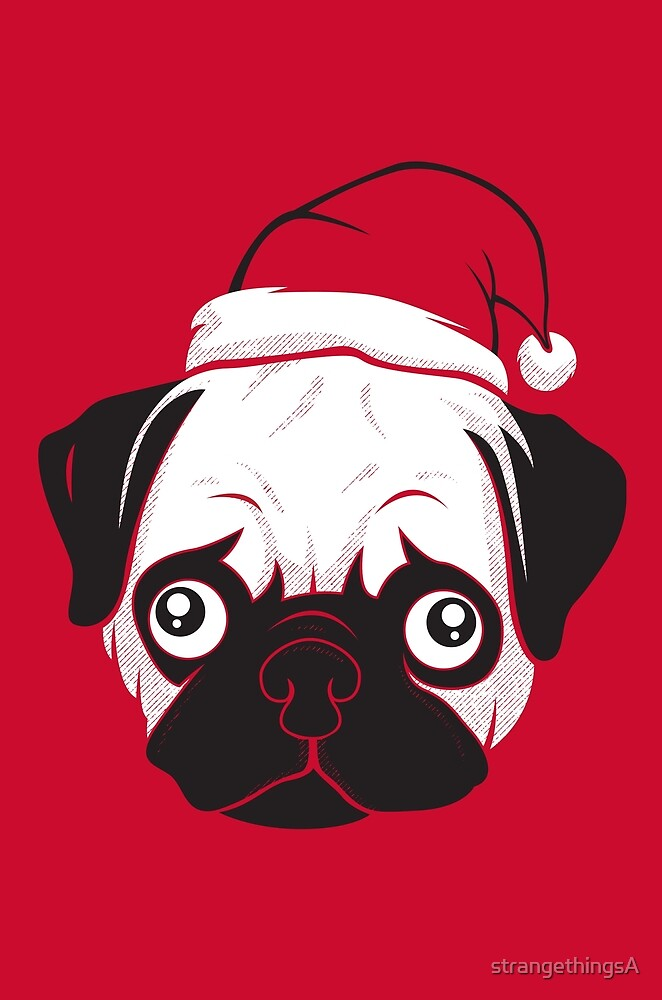 Holiday Pug by strangethingsA