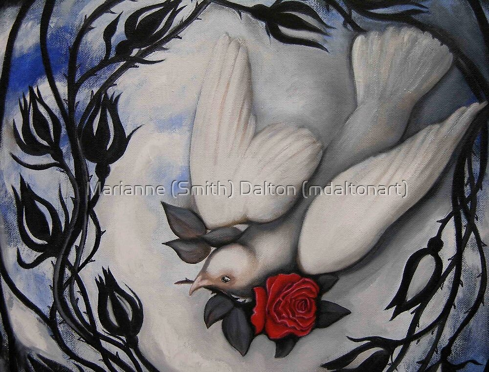 """My Love is Like a Red, Red Rose"" by Marianne (Smith) Dalton (mdaltonart)"