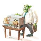 Orc at the photocopier by Jason Pym