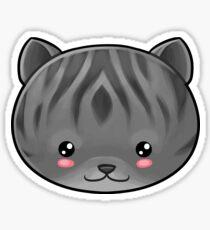Grey Tabby Cat Kawaii Sticker