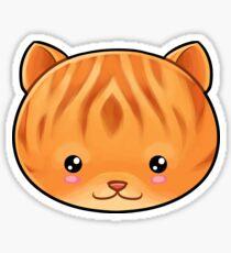 Ginger Tabby Cat Kawaii Sticker