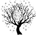 Nachtlandschaft - Baum des Lebens von georgiamason