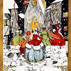 Vintage Snowy Christmas Scene by SherDigiScraps