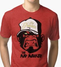 Ink Junkie - Tattoo Art - Monkey Cartoon Tri-blend T-Shirt