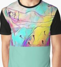 Rainbow colour sleeping Beauty  Graphic T-Shirt