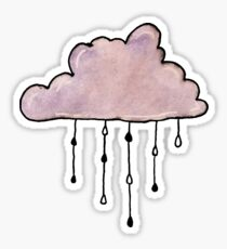 purple rain cloud watercolor Sticker
