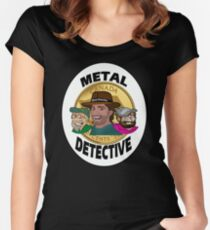 Metal Detective Women's Fitted Scoop T-Shirt
