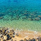 Turquoise, Blue and Green Clear Water of the Mediterranean Sea at the Beach by Jon Shore