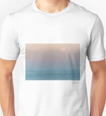 Full Moon at Sunrise over the Mediterranean Sea Unisex T-Shirt