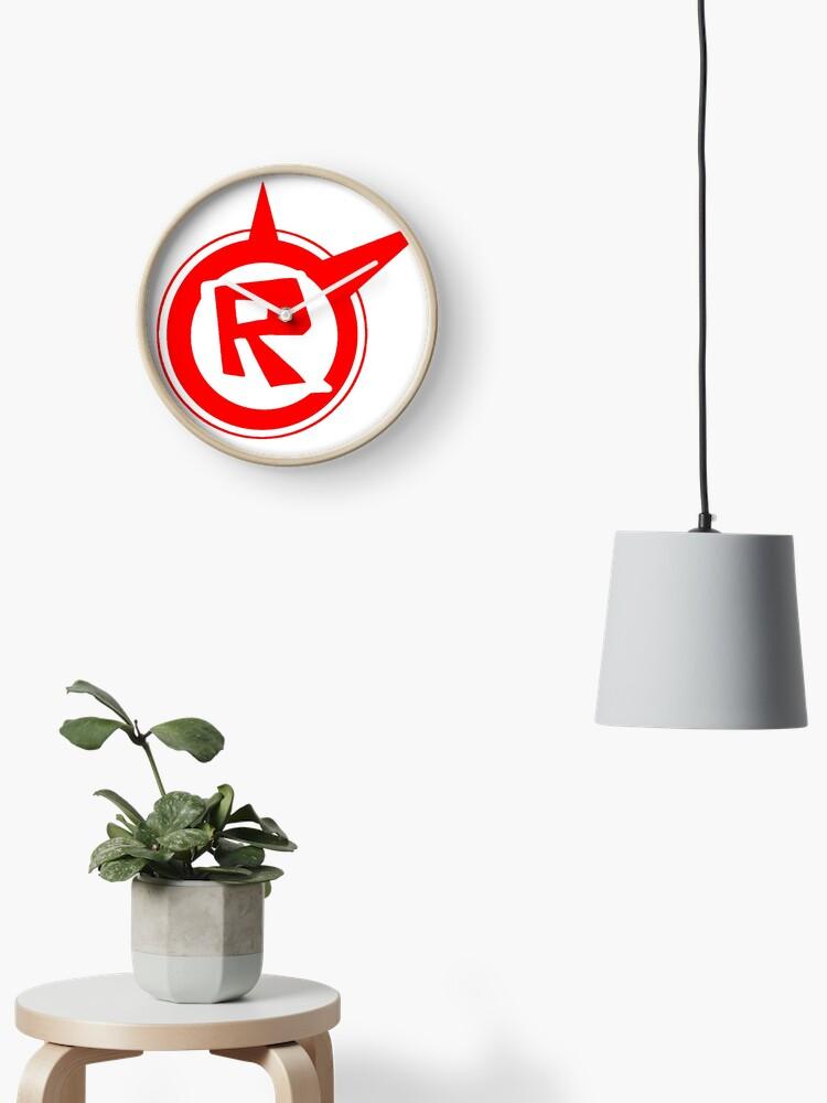 Roblox Logo Remastered Clock - roblox new logo grey