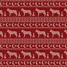 Ugly Christmas sweater dog edition - Ceskoslovensky vlcak red by Camilla Mikaela Häggblom
