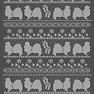 Ugly Christmas sweater dog edition - Tibetan spaniel by Camilla Mikaela Häggblom