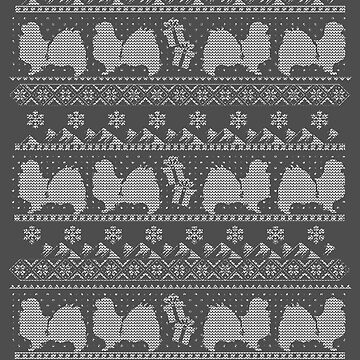 Ugly Christmas sweater dog edition - Tibetan spaniel by CamillaHaggblom
