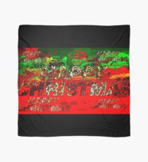 skulls red and green happy christmas  Scarf