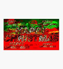 skulls red and green happy christmas  Photographic Print
