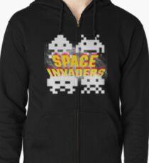 Space Invaders Zipped Hoodie