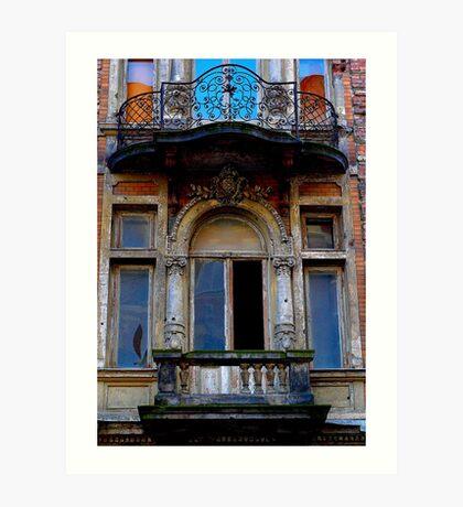 "City Life - ""Balconies, Windows, Shutters"" p.4 Art Print"