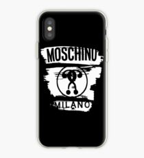 Moschino Milano White Logo iPhone Case