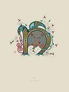 Celtic Initial N by Thoth Adan