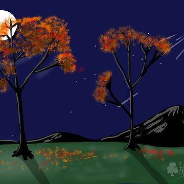 Autumn night by ChuckHalloran