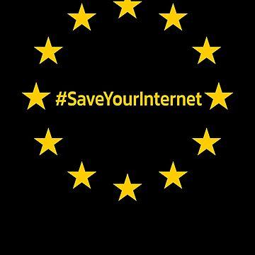 #SaveYourInternet Shirts und Bekleidung #SaveYourInternet rettet das Internet Meinungsfreiheit Shirt by Limeva