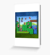 Super Mario 2 Greeting Card