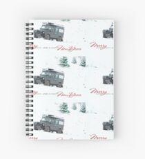 Landrover Christmas  Spiral Notebook