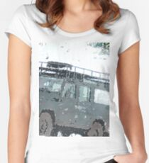 Landrover Christmas  Women's Fitted Scoop T-Shirt