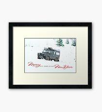 Landrover Christmas  Framed Print