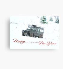 Landrover Christmas  Metal Print