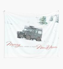 Landrover Christmas  Wall Tapestry